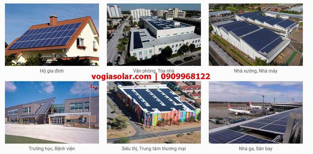 Hệ thống điện mặt trời lắp vị trí nào