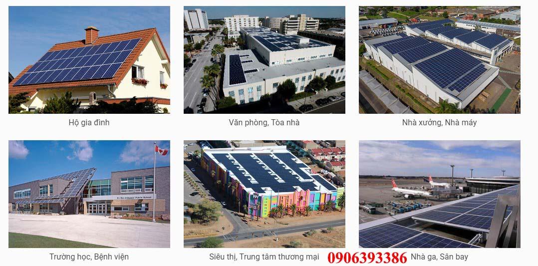Hệ thống điện năng lượng mặt trời hòa lưới lắp ở đâu